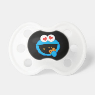 Cookie Smiling Face with Heart-Shaped Eyes Pacifiers