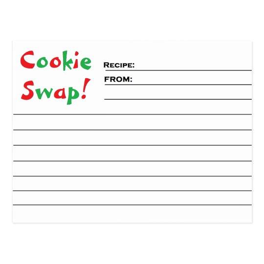 """Cookie Swap!"" Recipe Cards"