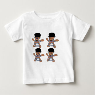 Cookie testing Lab tech tee for baby.