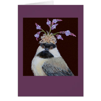 Cookie, the chickadee card