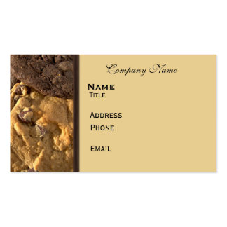Cookie Time Double-Sided Standard Business Cards (Pack Of 100)