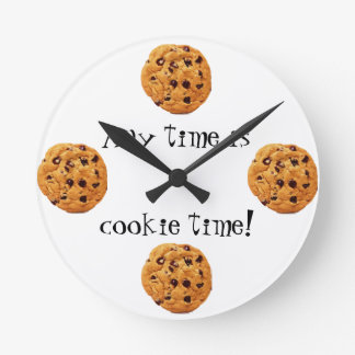 Cookie Time Round Clock
