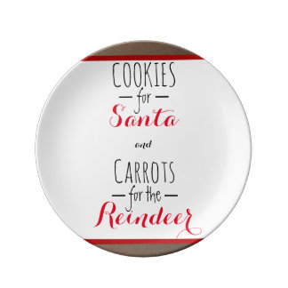 Cookies and Carrots Plate Porcelain Plates