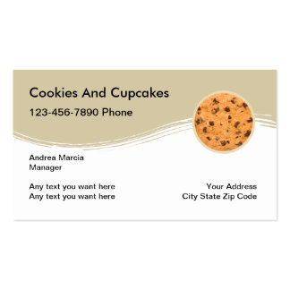 Cookies And Cupcakes Business Cards