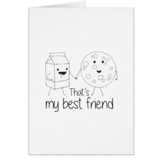 Cookies and Milk - Best Friends Card