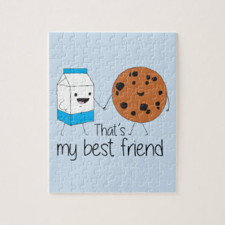 Cookies and Milk - Best Friends Jigsaw Puzzle