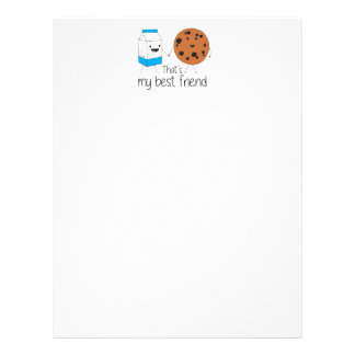 Cookies and Milk - Best Friends Letterhead