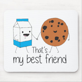 Cookies and Milk - Best Friends Mouse Pad