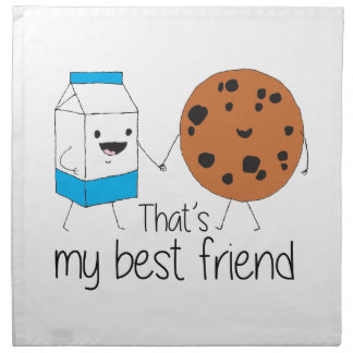 Cookies and Milk - Best Friends Napkin