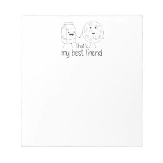 Cookies and Milk - Best Friends Notepad