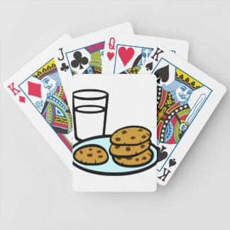 Cookies and Milk Bicycle Playing Cards