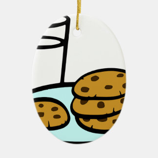 Cookies and Milk Ceramic Ornament