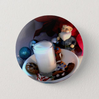 Cookies and Milk Gnome I 2 Inch Round Button