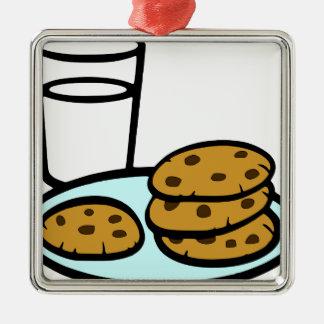 Cookies and Milk Metal Ornament