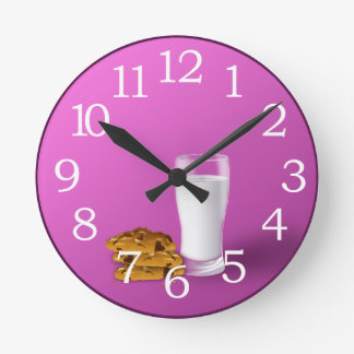 cookies and milk wall clock