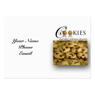 Cookies and Other Delicious Desserts on White Pack Of Chubby Business Cards