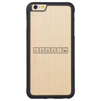 Cookies Chemical element Z57c7 Carved Maple iPhone 6 Plus Bumper Case