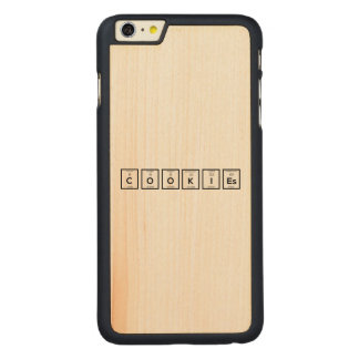 Cookies Chemical element Z57c7 Carved Maple iPhone 6 Plus Case