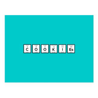 Cookies Chemical element Z57c7 Postcard
