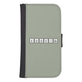 Cookies Chemical element Z57c7 Samsung S4 Wallet Case
