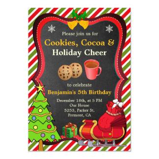 Cookies Cocoa Christmas Birthday Party Invitation