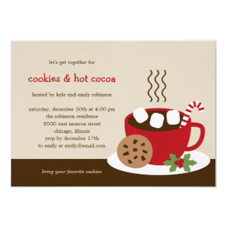 Cookies & Cocoa Holiday/Christmas Party Invitation