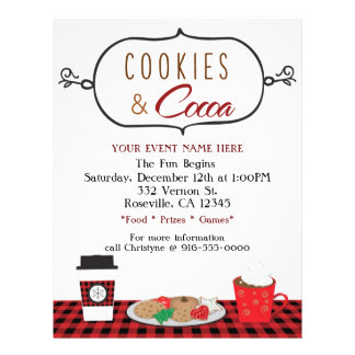 COOKIES & COCOA Holiday Party Event Flyer