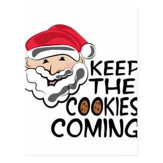 Cookies Coming Postcard