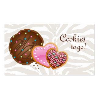 Cookies Donut Bakery Cute Zebra Modern Business Card Templates