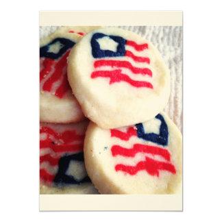 Cookies Flag USA America Invitation Cards