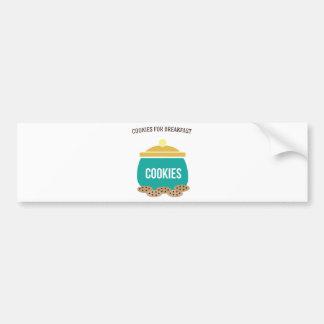 Cookies For Breakfast Bumper Sticker