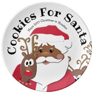 Cookies for Brown Santa Large Plate