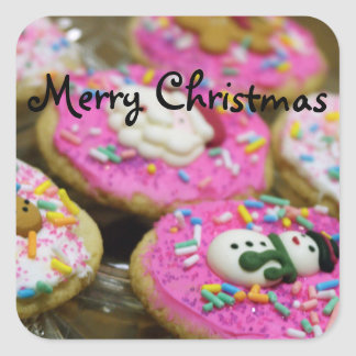 Cookies For Christmas Square Sticker