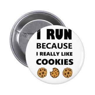Cookies for health, Run running 2 Inch Round Button