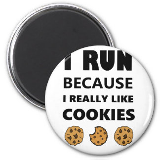 Cookies for health, Run running 2 Inch Round Magnet