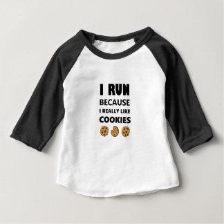 Cookies for health, Run running Baby T-Shirt