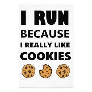 Cookies for health, Run running Stationery