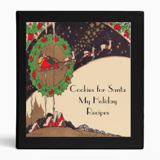 Cookies for Santa Art Deco Recipe Binder