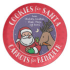 Cookies For Santa, Carrots Reindeer, Personalized Plate