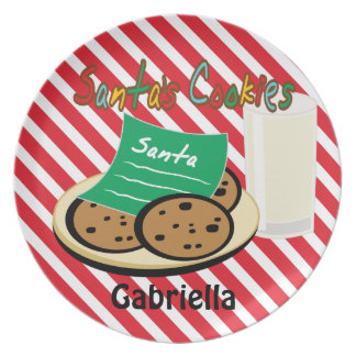 Cookies For Santa Christmas Dish Dinner Plate
