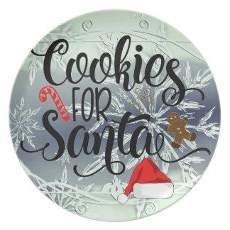 Cookies For Santa Christmas Holiday Plates