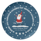 Cookies for Santa Christmas Plates