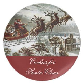 Cookies for Santa Claus Christmas Eve Reindeer Plate