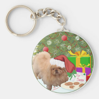 Cookies for Santa Claus Keychain