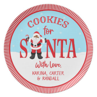 Cookies for Santa - Ethnic - Personalized Plate