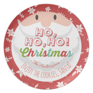 Cookies for Santa Ho Ho Merry Christmas & New Year Dinner Plates