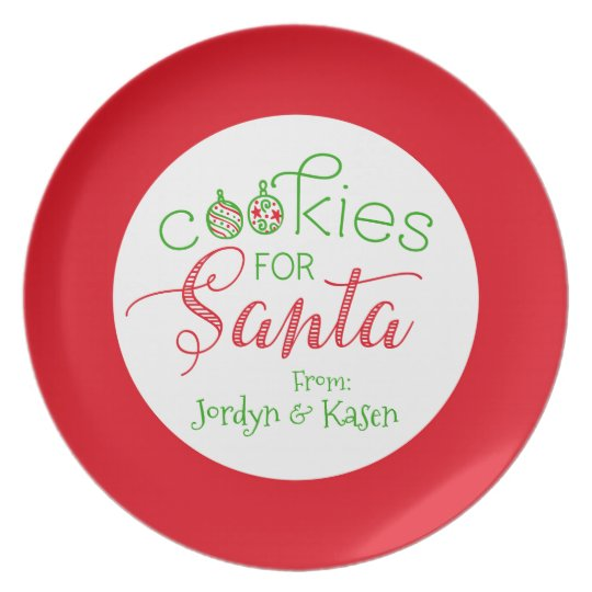 """Cookies for Santa"" Personalized Christmas Plate"