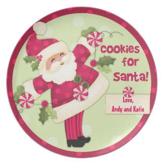"""Cookies for Santa"" Personalized Cookie Plate"