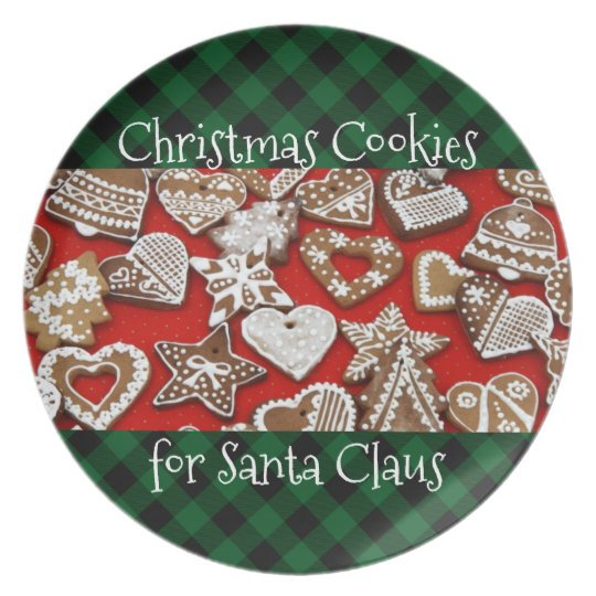 Cookies for Santa Plate | Plaid Country Christmas