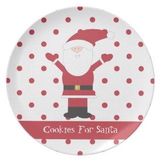 Cookies For Santa Polka Dot Plate